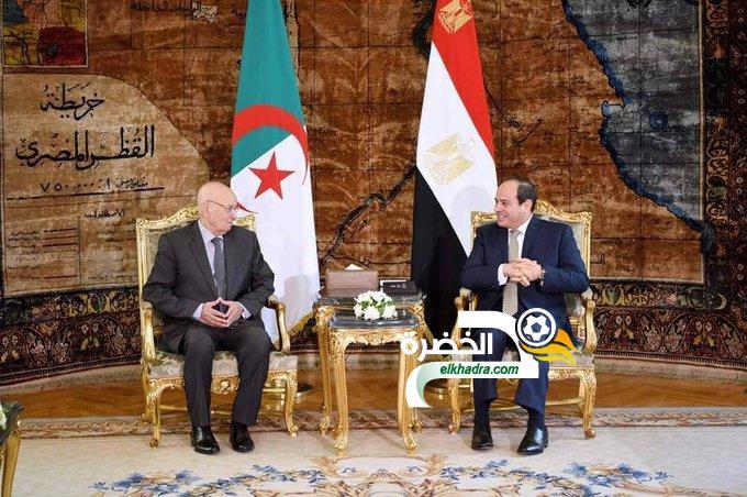 نهائي كان 2019 : بن صالح يستقبل من طرف الرئيس المصري 24