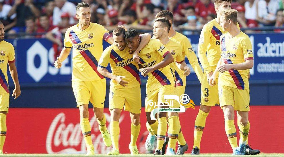 برشلونة يتعادل مع أوساسونا في الجولة الثالثة من الدوري الإسباني 25