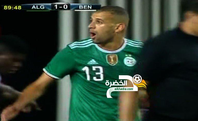 الجزائر 1-0 البنين : هدف إسلام سليماني 28