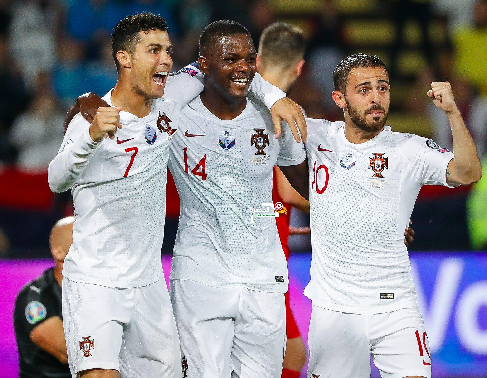 رونالدو يقود البرتغال لتحقيق فوز كبير على نظيره الصربي 24