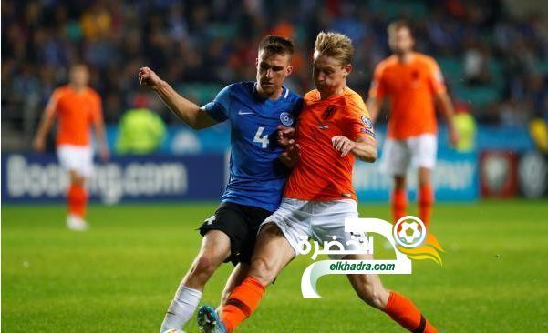 منتخب هولندا يفوز على إستونيا برباعية في تصفيات يورو 2020 1