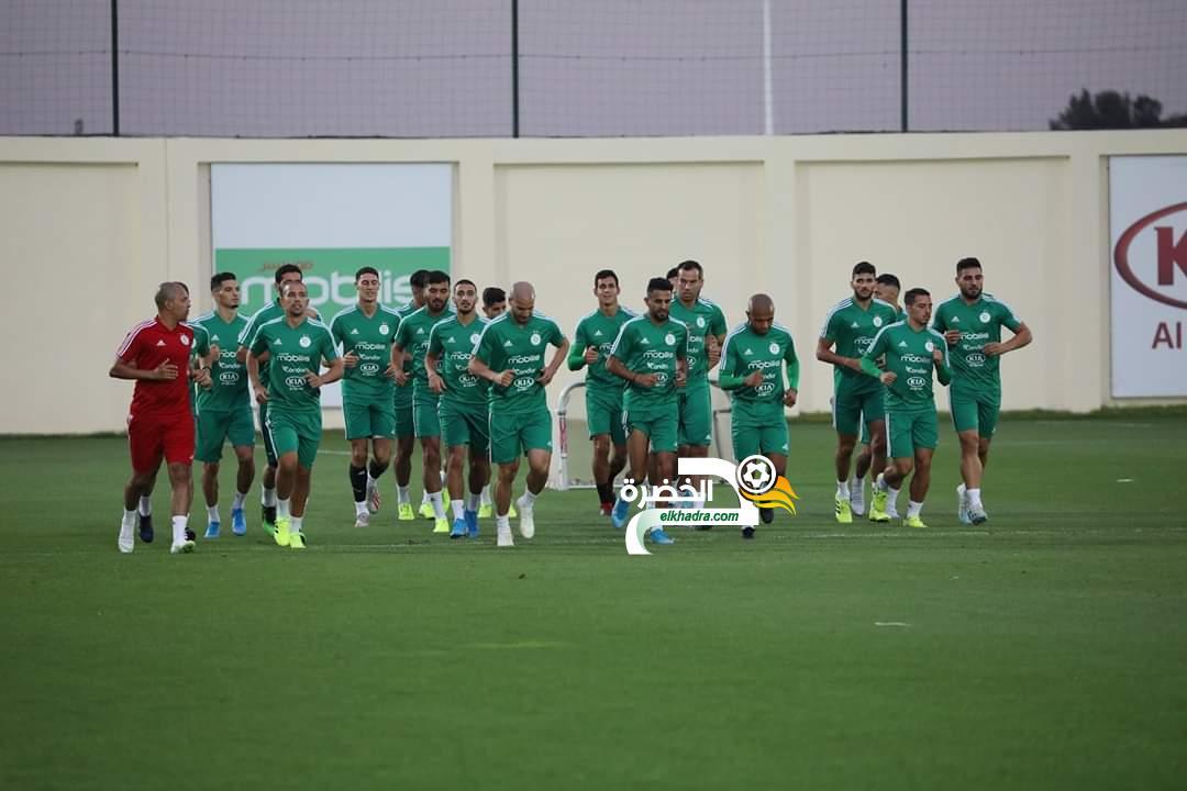 بالصور.. الخضر يواصلون تحضيراتهم للمباراة الودية أمام المنتخب البنيني 24