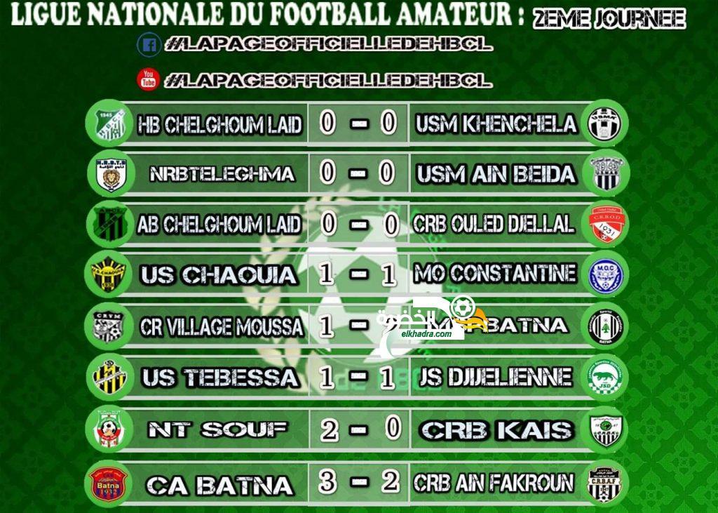 نتائج وترتيب بطولة القسم الوطني الثاني هواة مجموعة الشرق بعد الجولة 2 18