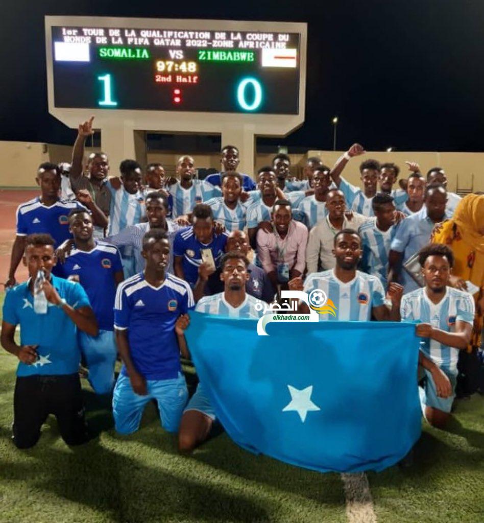 منتخب الصومال يحقق فوزا تاريخيا على زيمبابوي ضمن تصفيات كأس العالم 2022 24