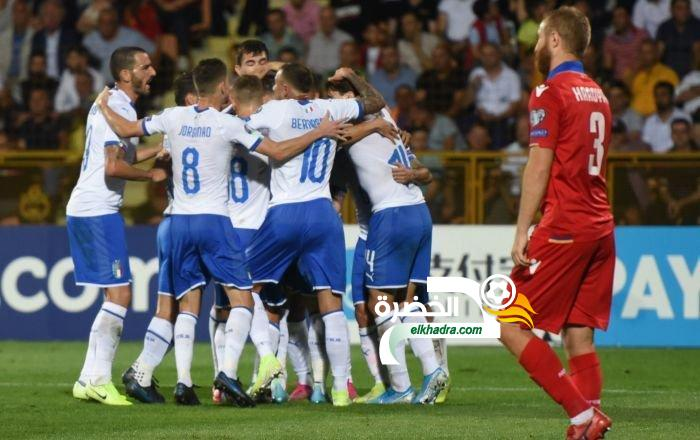 منتخب إيطاليا يحقق فوزه الخامس توالياً في تصفيات يورو 2020 على حساب أرمينيا 24