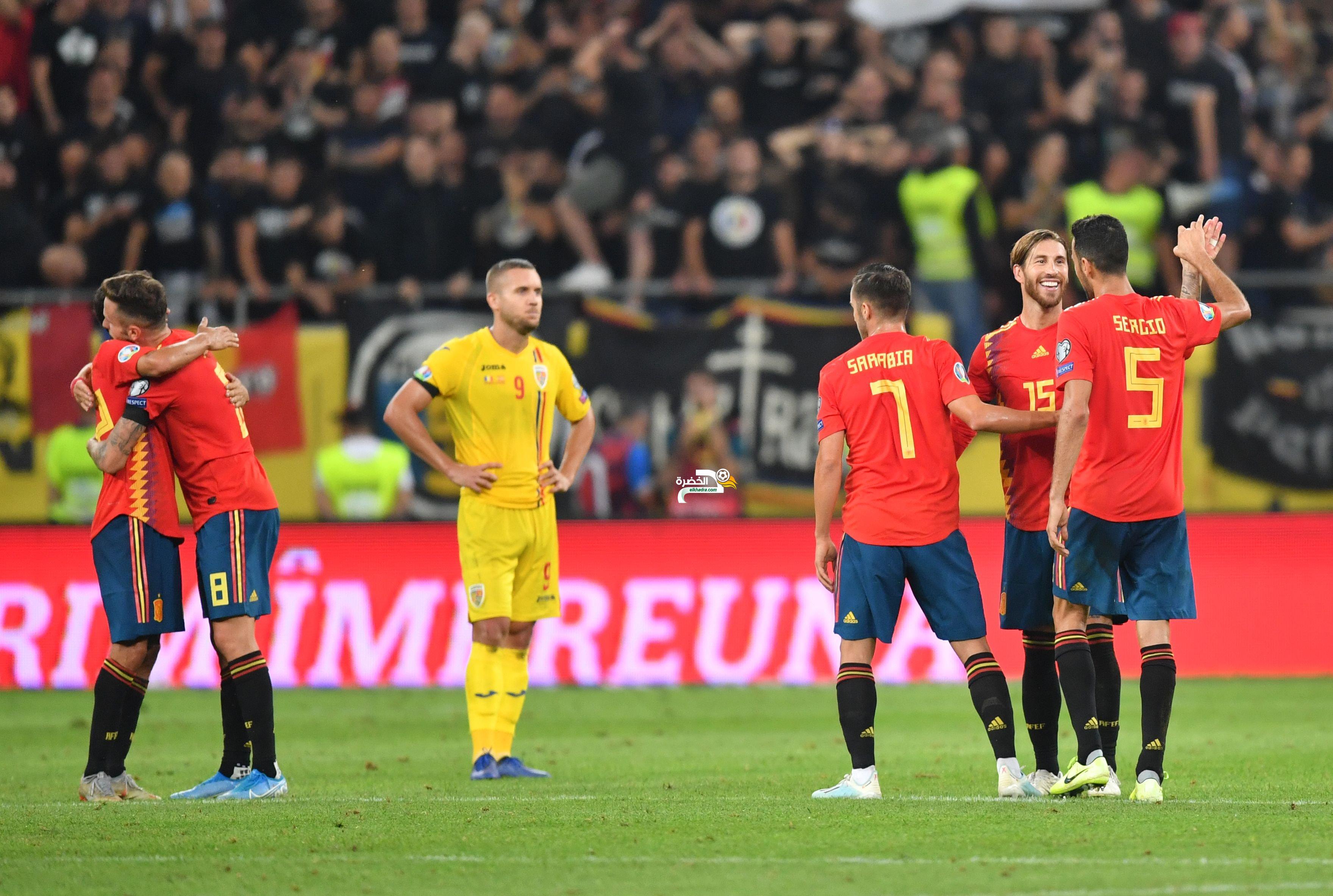 إسبانيا تفوز على رومانيا في تصفيات يورو 2020 24
