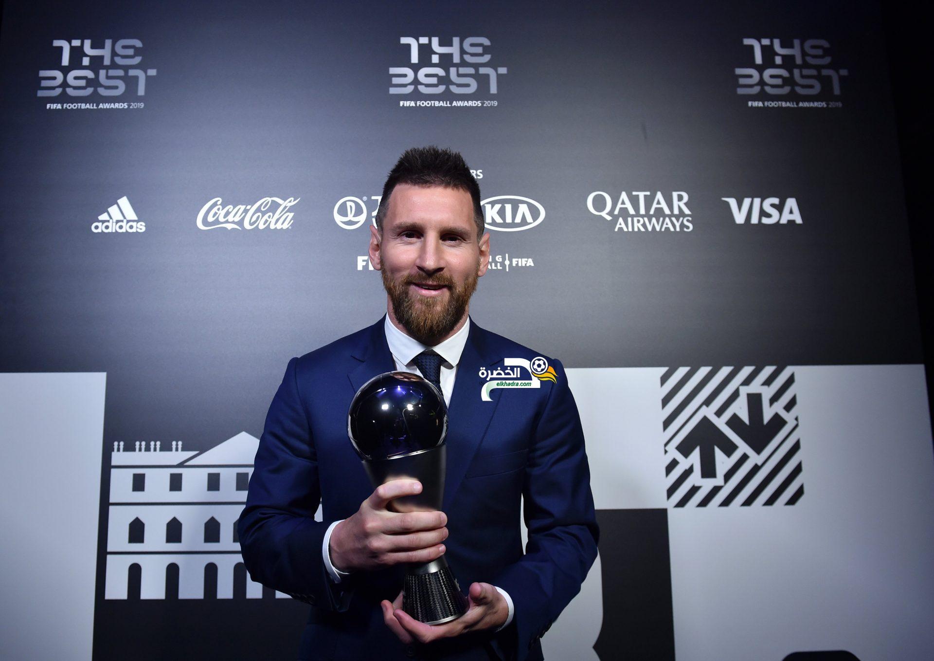 ليونيل ميسي يفوز بجائزة أفضل لاعب في العالم لسنة 2019 24