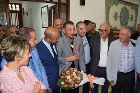 توفيق مخلوفي يحظى بإستقبال الأبطال لدى عودته لأرض الوطن 24