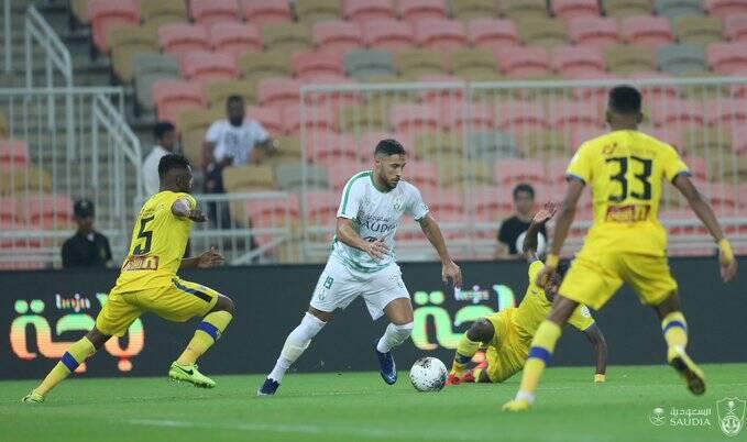 يوسف بلايلي يقدم أول تمريرة حاسمة له في الدوري السعودي 23