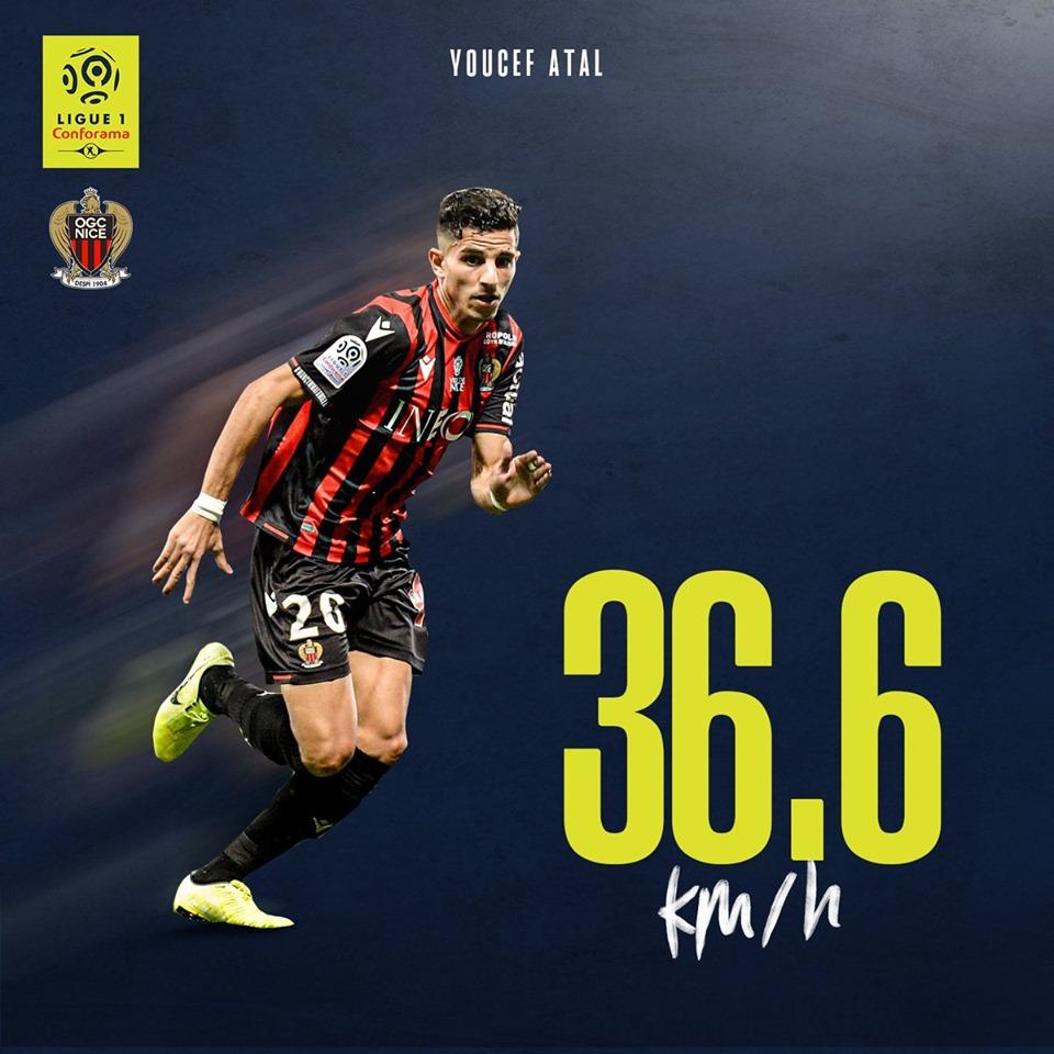 يوسف عطال أسرع لاعب في الدوري الفرنسي هذا الموسم 23