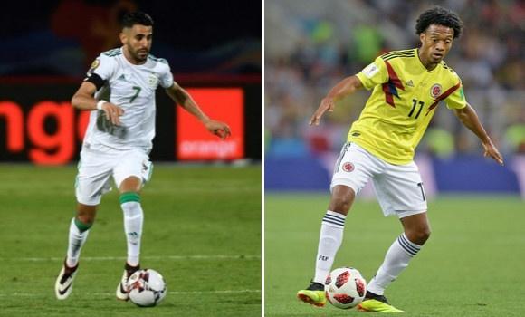 مباراة الجزائر وكولومبيا :