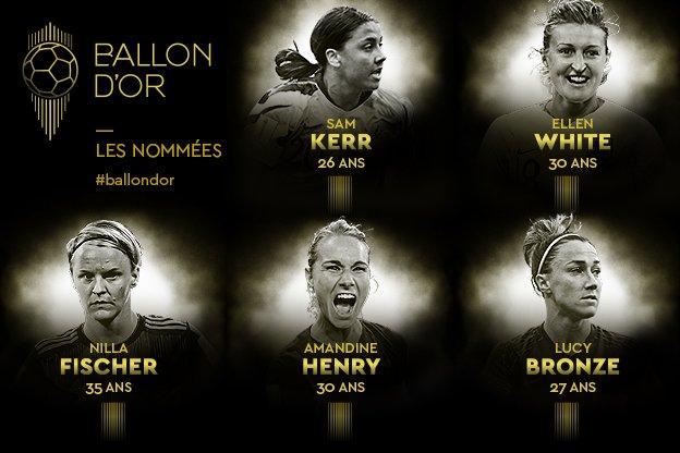 مجلة فرانس فوتبول تعلن أسماء 20 مرشحة لجائزة أفضل لاعبة في العالم 19