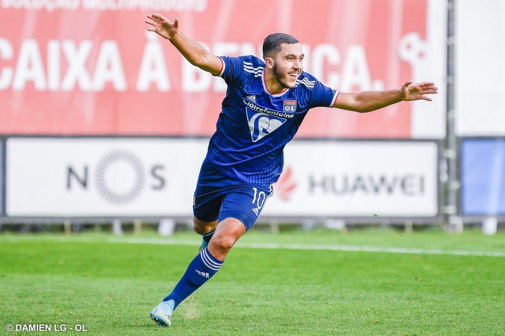الموهبة الجزائرية ريان شرقي يسجل هدفين مع ليون ضد بنفيكا في دوري ابطال اوروبا 25