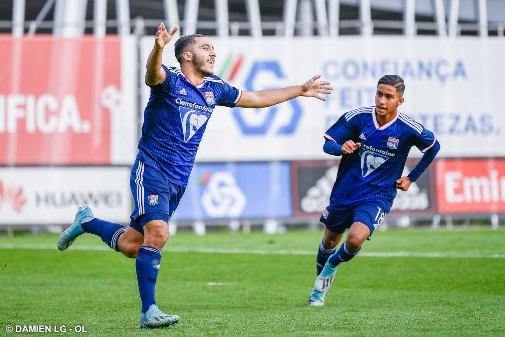 الموهبة الجزائرية ريان شرقي يسجل هدفين مع ليون ضد بنفيكا في دوري ابطال اوروبا 26