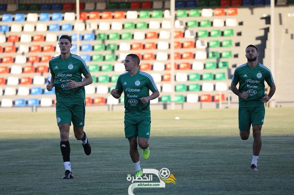 المنتخب الجزائري يواصل استعداداته لمواجهة منتخب بوتسوانا 107