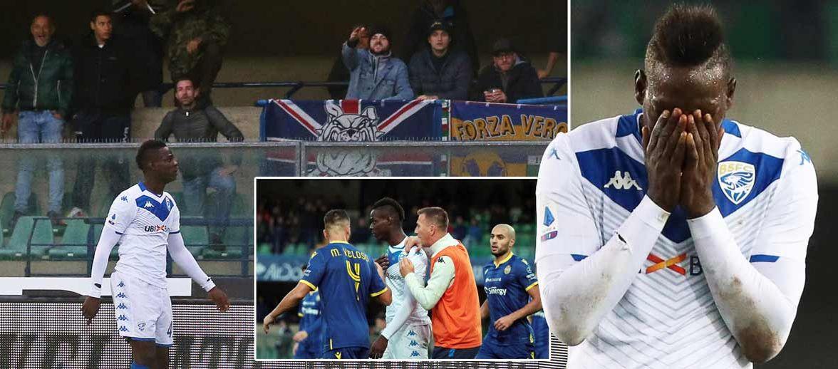 ماريو بالوتيلي يتعرض لهتافات عنصرية في مباراة بريشيا أمام فيرونا 30