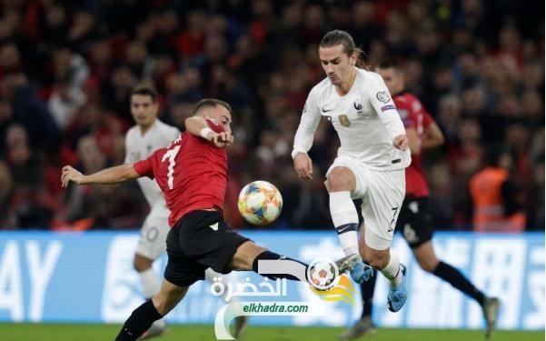 منتخب فرنسا تنهي تصفيات يورو 2020 بالفوز أمام ألبانيا 25