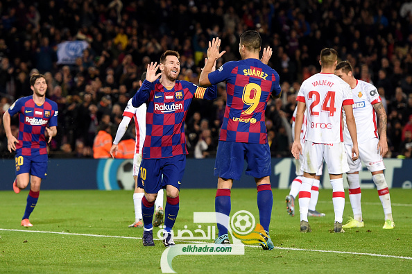 هاتريك ميسي يقود برشلونة لسحق ريال مايوركا 24