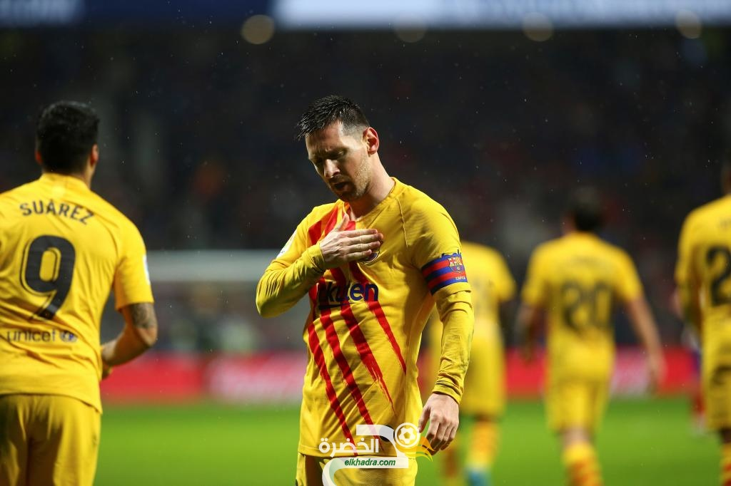 ليونيل ميسي يعيد برشلونة إلى صدارة الليجا بفوز قاتل على أتلتيكو مدريد 26