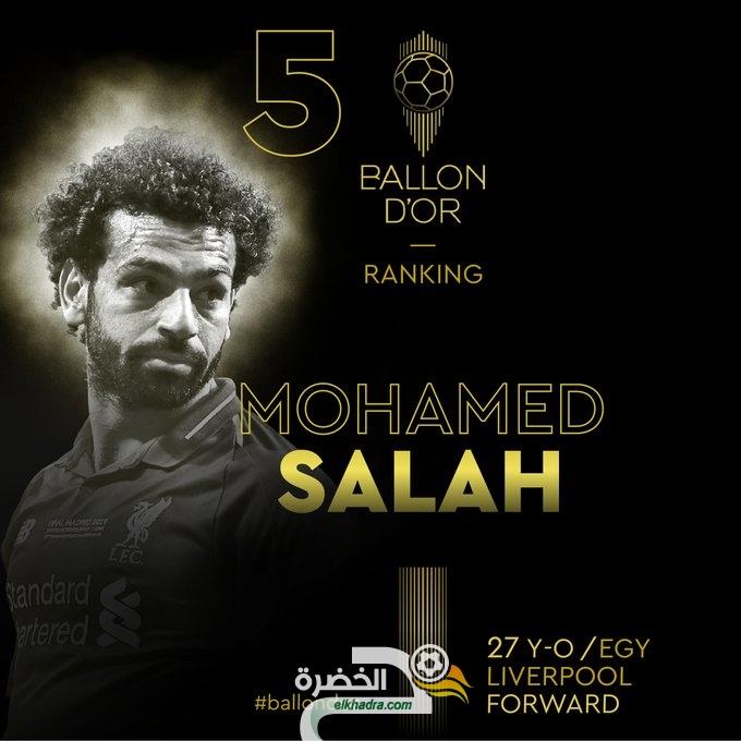 الكرة الذهبية 2019.. محمد صلاح يحل في المركز الـ5 لأفضل لاعب العالم 24