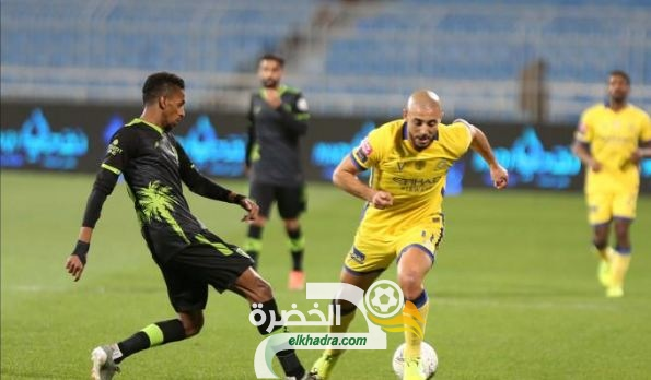 النصر يفوز على ضيفه التعاون ويتصدر الدوري السعودي 31