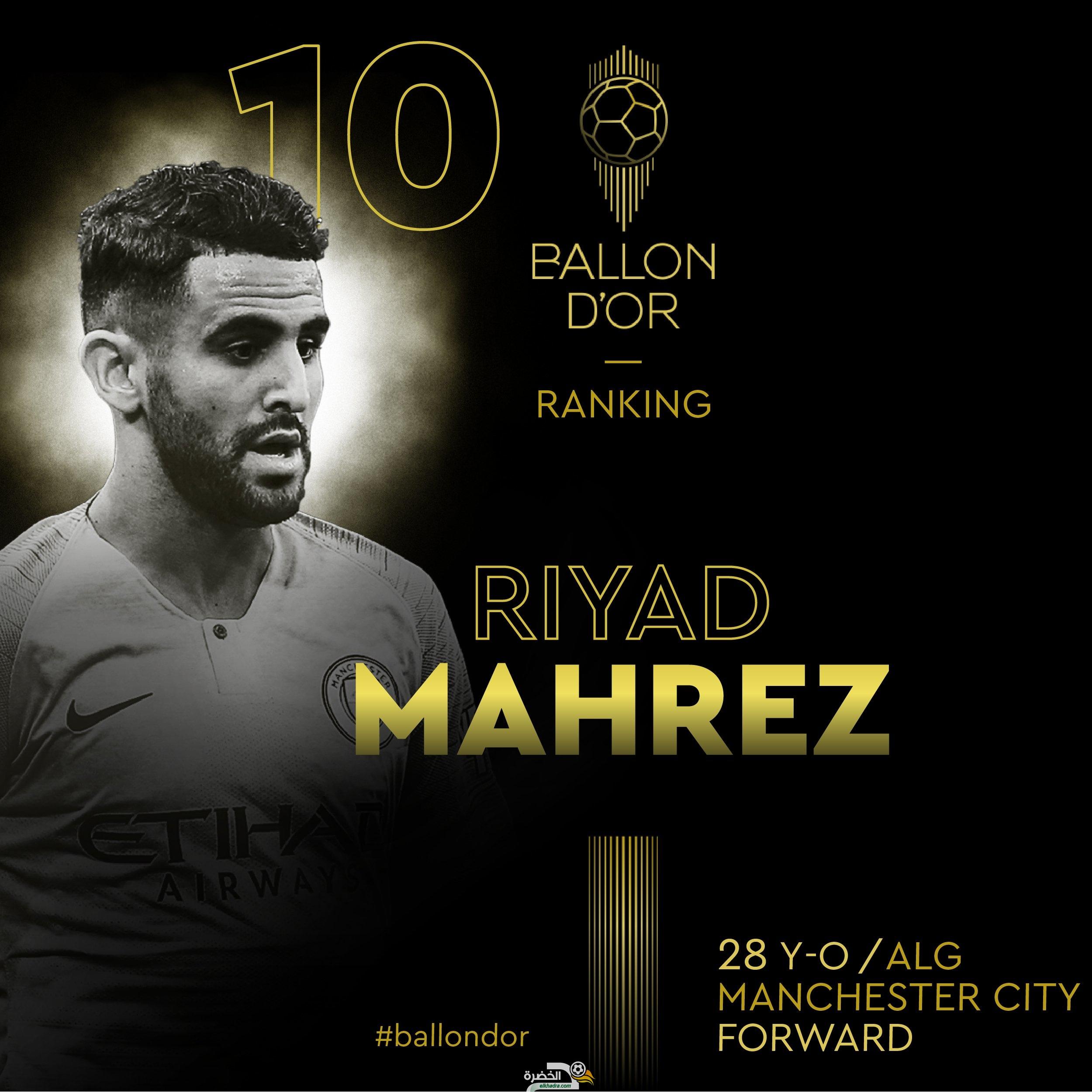 رياض محرز عاشر أفضل في لاعب العالم في جائزة الكرة الذهبية لسنة 2019 33