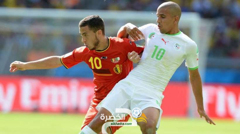 مباراة ودية بين الجزائر وبلجيكا في جوان 25