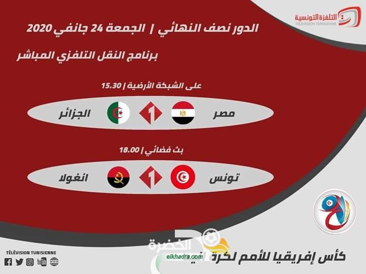 توقيت والقنوات الناقلة الجزائر – مصر في بطولة افريقيا لكرة اليد اليوم 24 جانفي 2020 24