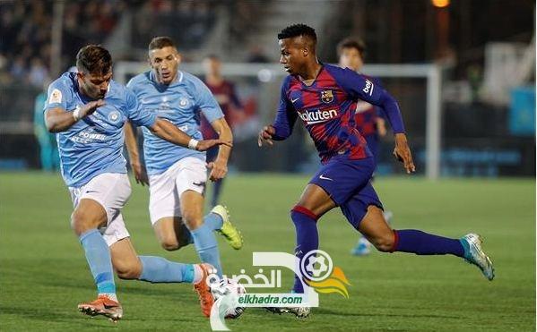 كأس ملك إسبانيا : برشلونة يتجاوز إيبيزا بهدفين لهدف 24