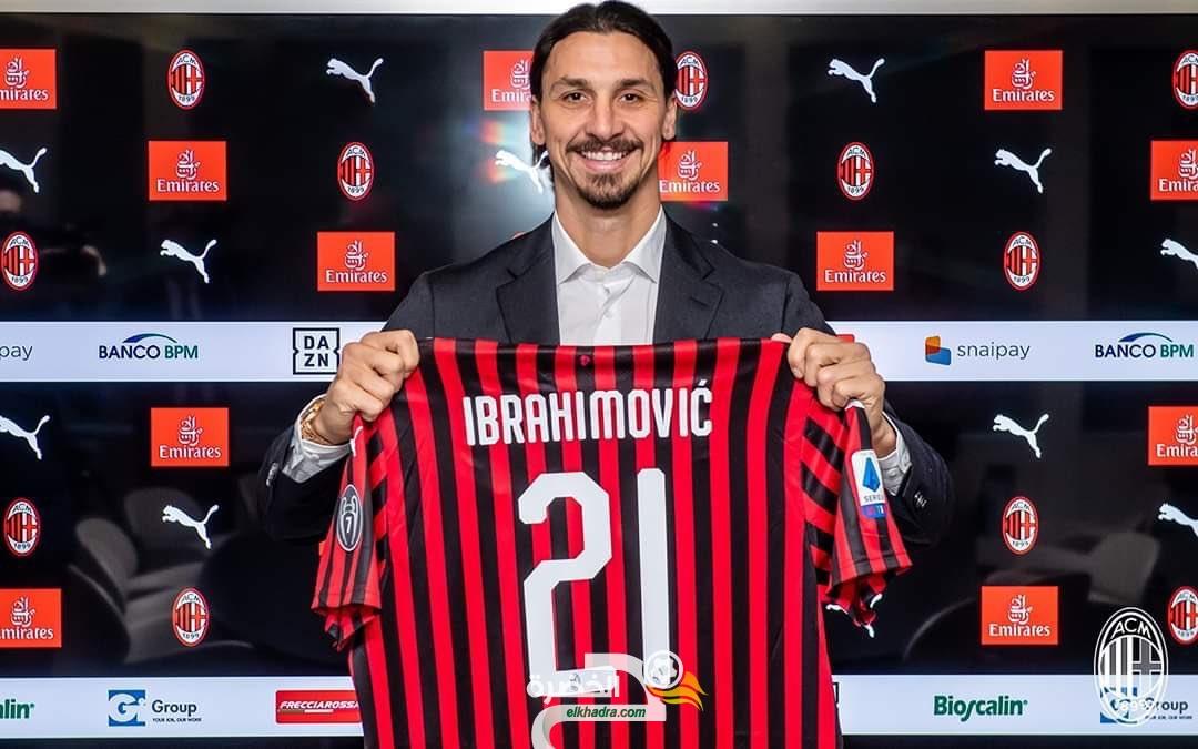 إبراهيموفيتش سيرتدي القميص رقم 21 مع ميلان الإيطالي 32