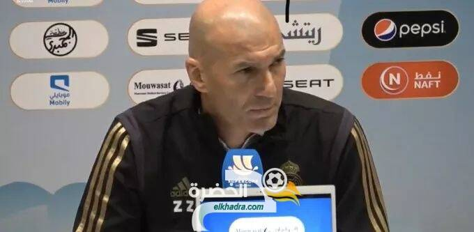 المؤتمر الصحفي للمدرب زين الدين زيدان بعد التتويج بكأس السوبر الإسباني 26