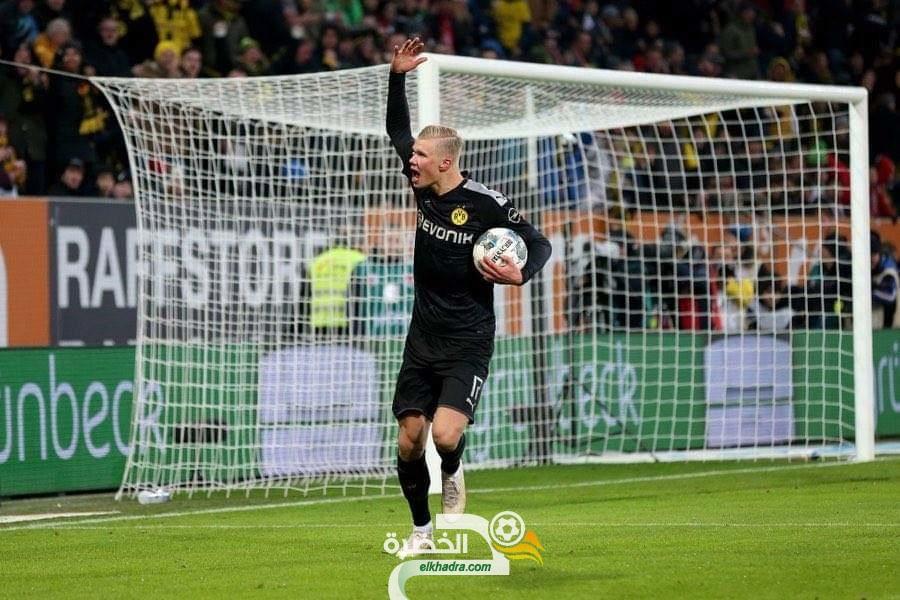 هالاند يسجل هاترك في اول مباراة بقميص بوروسيا دورتموند 28