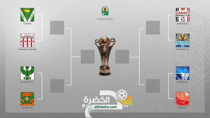 نتائج قرعة ربع نهائي كأس الاتحاد الإفريقي 26