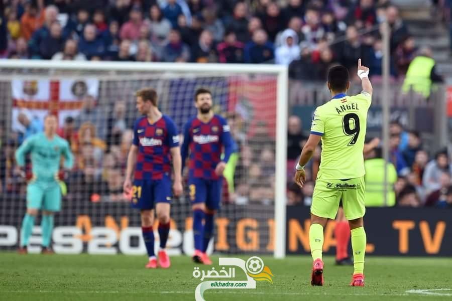 الدوري الاسباني : برشلونة يفوز بهدفين لواحد أمام خيتافي 26