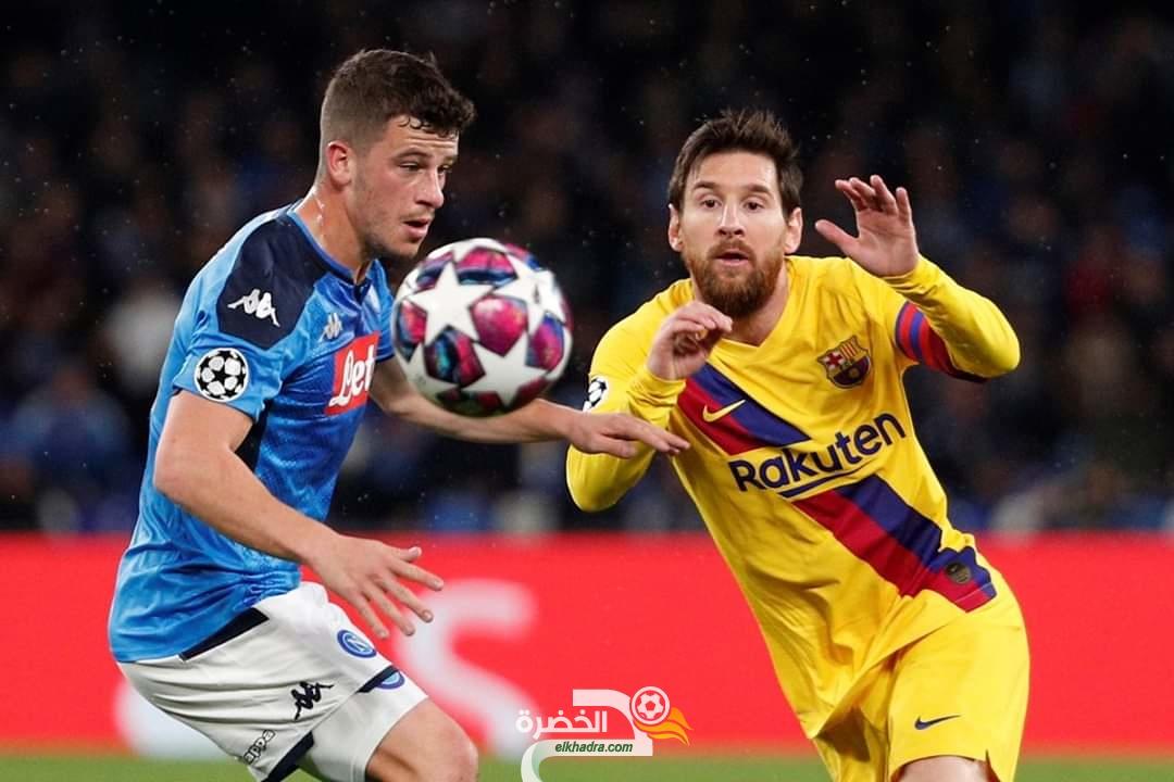 دوري ابطال اوروبا : نابولي يتعادل بهدف لمثله أمام برشلونة 26