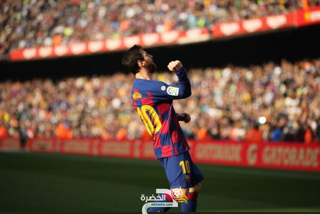 """""""ليونيل ميسي"""" يقود برشلونة لاكتساح إيبار بخماسية نظيفة 27"""