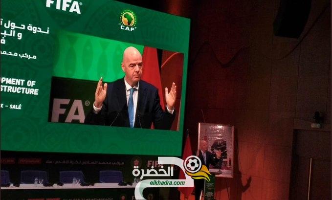 """جياني انفاتتينو رئيس الفيفا:"""" أقترح تنظيم كأس أفريقيا كل 4 سنوات عوض سنتين"""" 27"""
