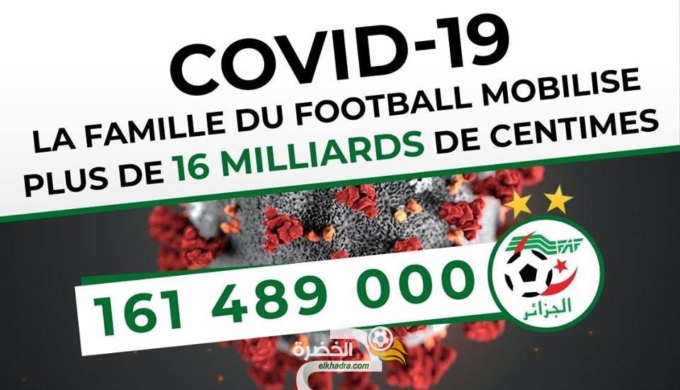 أسرة كرة القدم الجزائرية تساهم بأكثر من 16 مليار سنتيم لمكافحة فيروس كورونا 26