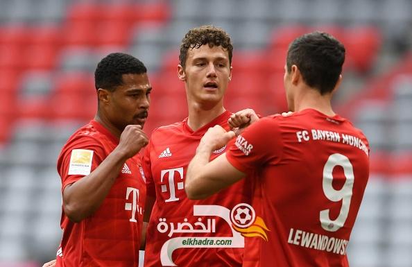 بايرن ميونيخ يفوز 5-0 على دوسلدورف محققا فوزه الرابع على التوالي 27