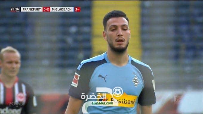 أسيست رامي بن سبعيني ضد فرانكفورت اليوم Asist Bensebaini contre Frankfurt 29