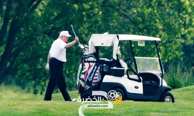 ترامب يلعب الجولف مع ارتفاع عدد وفيات كورونا الى 100 الف 24