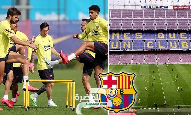 برشلونة يجري ثاني جلسة تدربات جماعية 28
