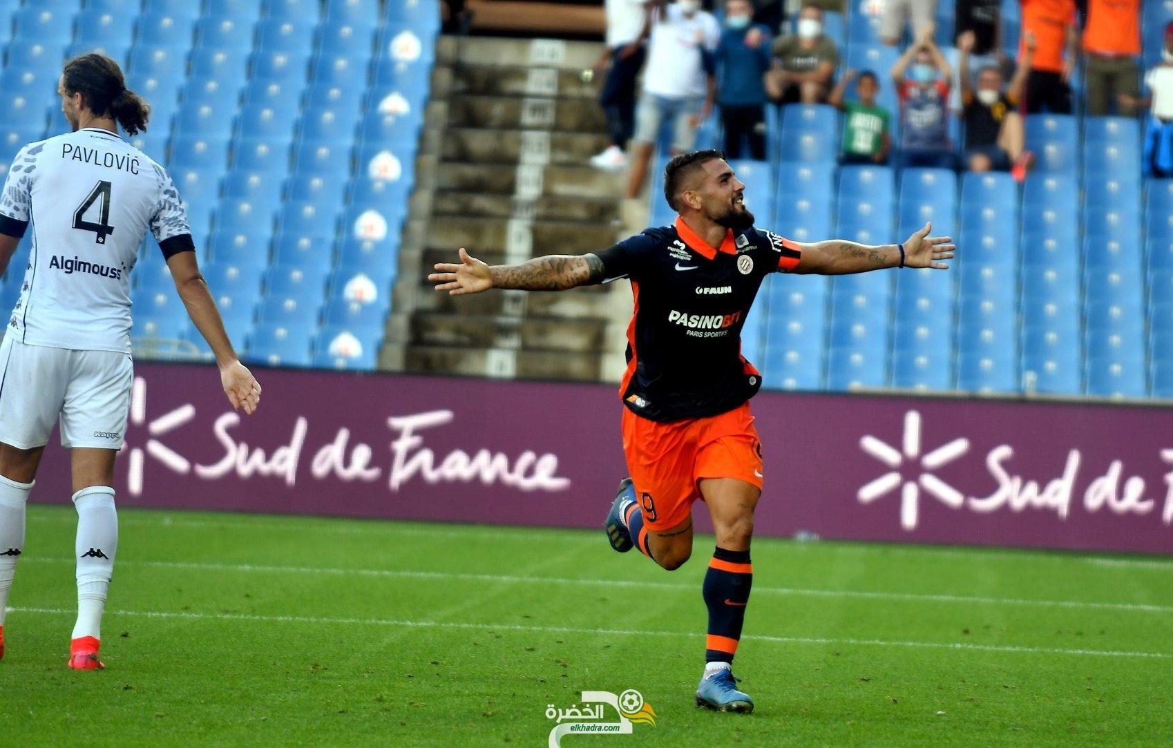 ثنائية ديلور تقود مونبولى للفوز ضد انجي في الدوري الفرنسي 30