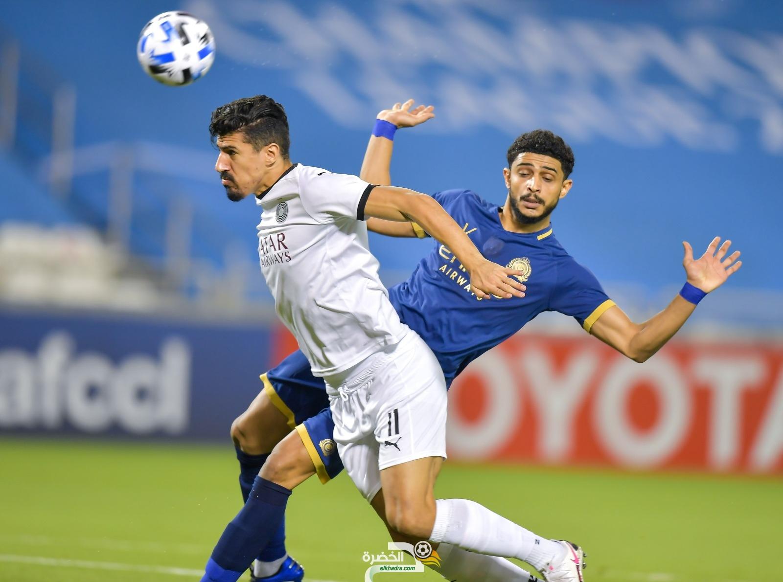 بونجاح هداف ويقود السد لتعادل ثمين امام النصر السعودي 27