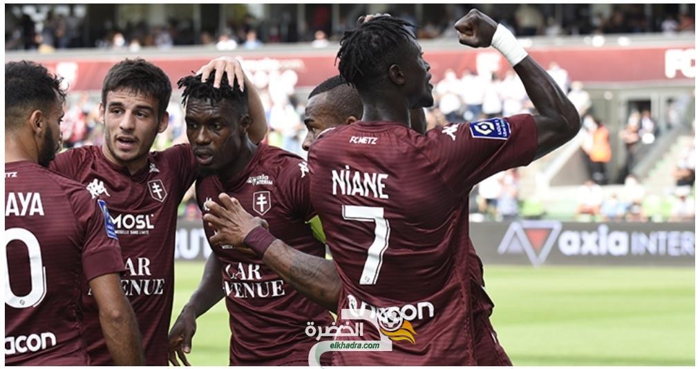 بمشاركة اوكجدة وفريد بولاية .. ميتز يحقق أول فوز في الدوري الفرنسي 30