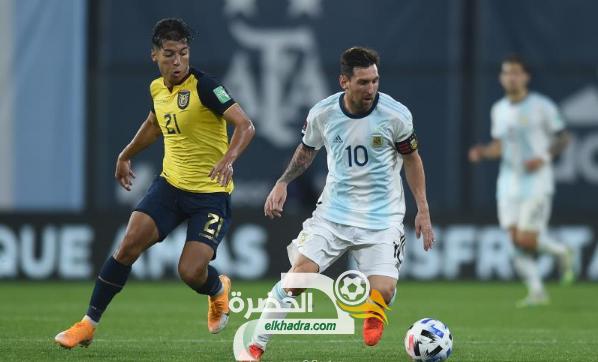 الأرجنتين تفوز على الإكوادور في تصفيات كأس العالم لكرة القدم 2022 25