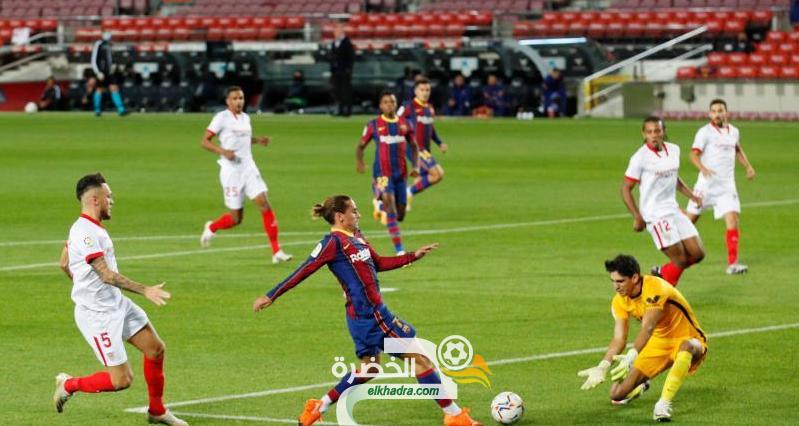 برشلونة يتعادل مع إشبيلية بهدف لمثله 24