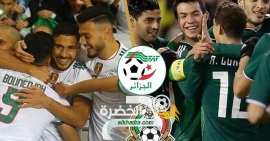 القنوات الناقلة لمباراة الجزائر و المكسيك اليوم 24