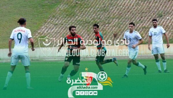 المنتخب الوطني أقل من 20 سنة يتعادل مع مولودية الجزائر وديا 28
