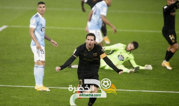 برشلونة يفوز على سيلتا فيجو بثلاثية في الليجا 26